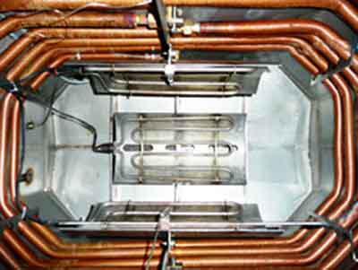 Vakuumtrockner Kondensator Rippenrohr  Rohrheizkörper Strahlungsheizung